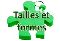 Bouton TAILLES ET FORMES