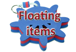Bouton FLOATING ITEMS